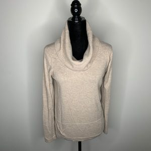 Loft Cowl-neck Oatmeal/cream Sweater Size XS